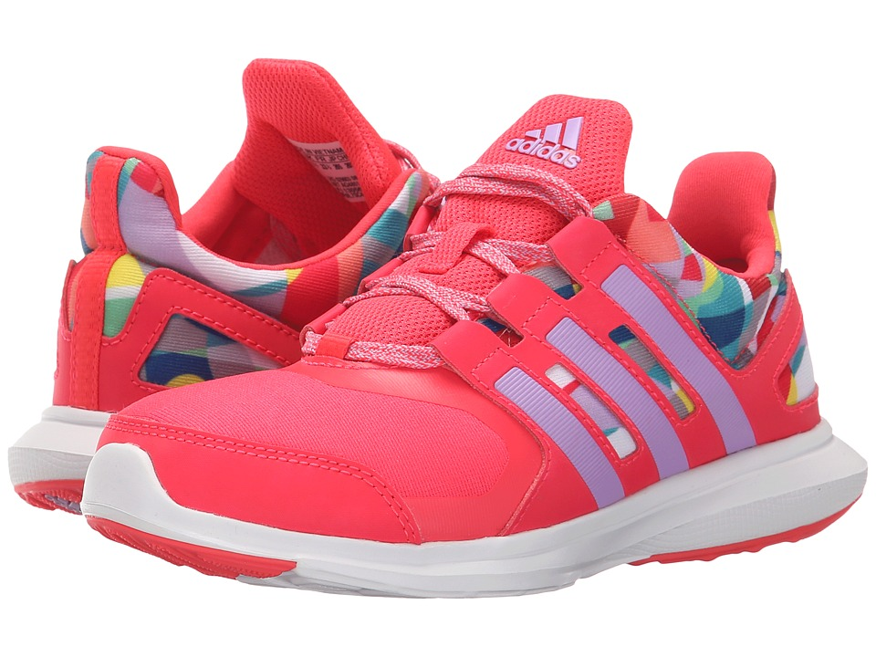 adidas Kids - Hyperfast 2.0 (Little Kid/Big Kid) (Shock Red/Shock Red/Purple Glow) Girls Shoes