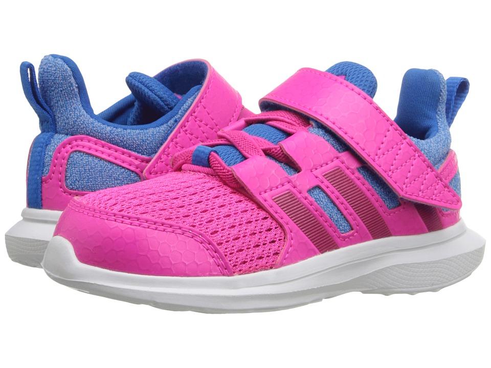 adidas Kids - Hyperfast EL (Toddler) (Bold Pink/Shock Blue) Girl's Shoes
