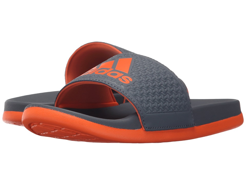 adidas Kids - Adilette SC Plus Logo (Toddler/Little Kid/Big Kid) (Grey/Orange) Boys Shoes