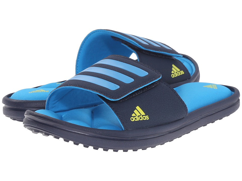 adidas Kids - Zeitfrei Slide (Toddler/Little Kid/Big Kid) (Collegiate Navy/Solar Blue2/Bright Yellow) Boys Shoes