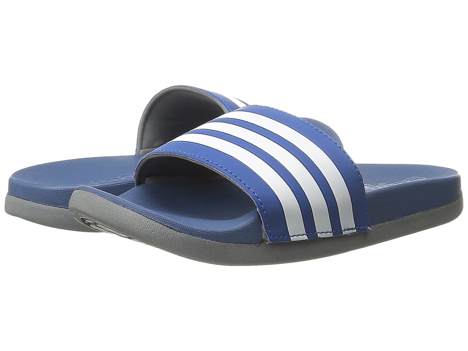 adidas Kids - Adilette SC Plus 3-Stripes (Toddler/Little Kid/Big Kid) (Collegiate Royal/White/Vista Grey) Boys Shoes