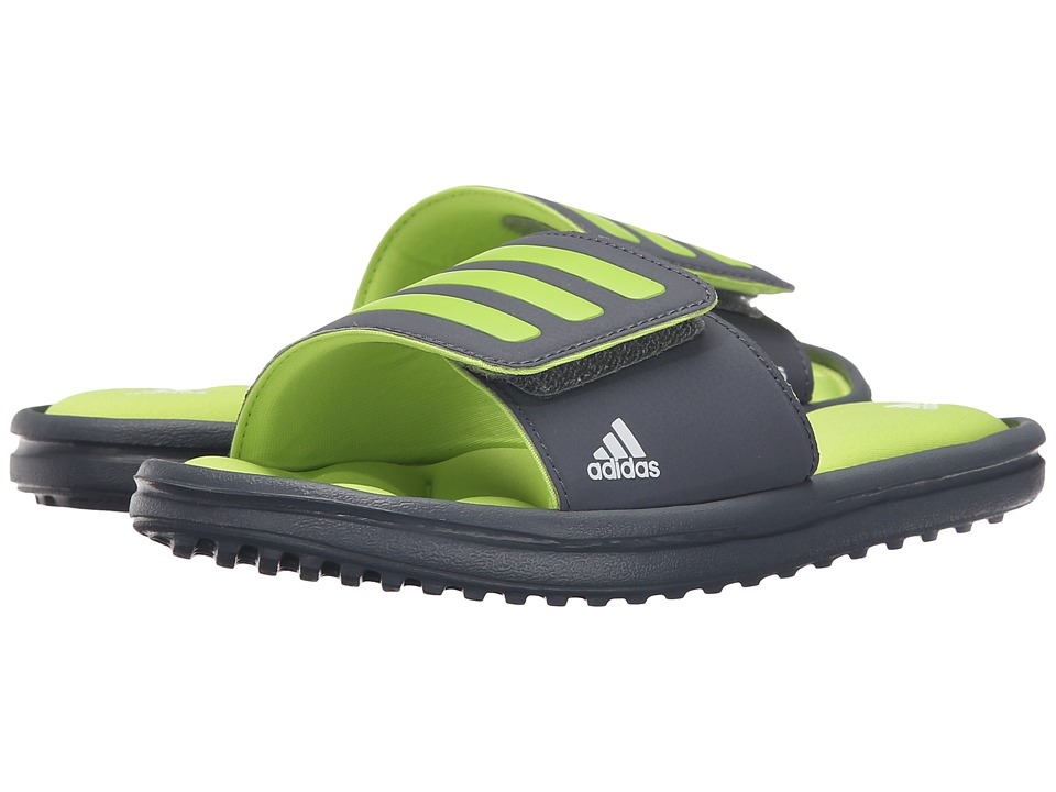 adidas Kids - Zeitfrei Slide (Toddler/Little Kid/Big Kid) (Onix/Semi Solar Slime/White) Boys Shoes