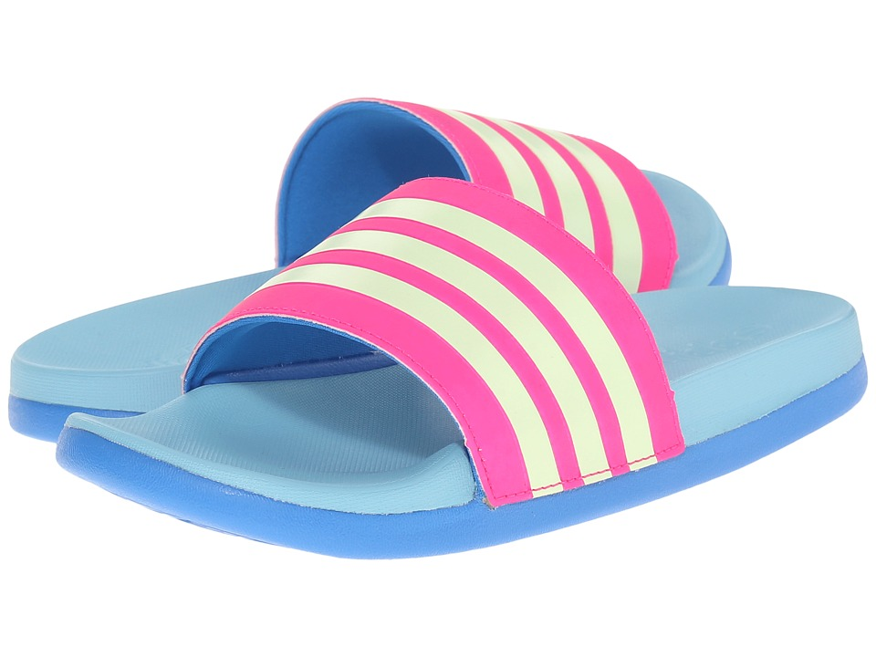 adidas Kids - Adilette CF Ultra (Toddler/Little Kid/Big Kid) (Shock Blue/Pink) Girls Shoes