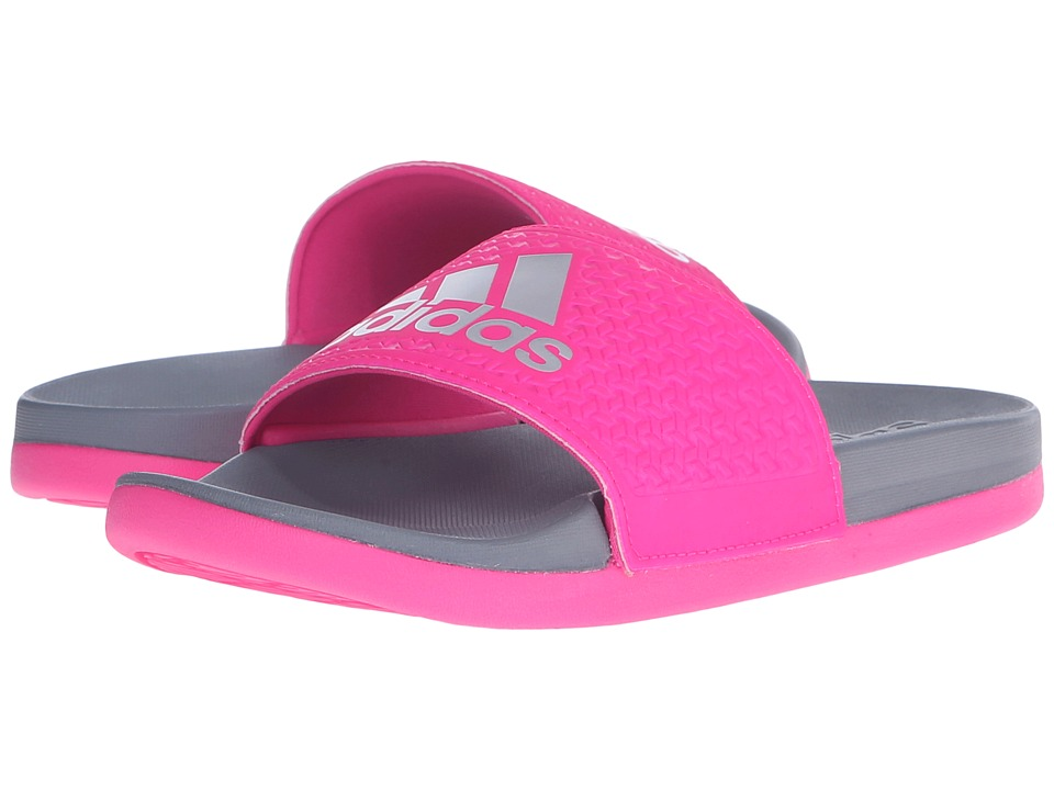 adidas Kids - Adilette SC Plus Logo (Little Kid/Big Kid) (Grey/Pink) Girls Shoes