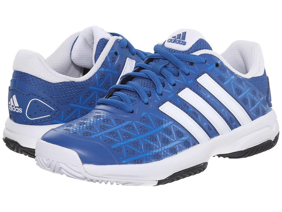 adidas Kids - Barricade Club xJ Tennis (Little Kid/Big Kid) (Equipment Blue/White/Shock Blue) Boys Shoes