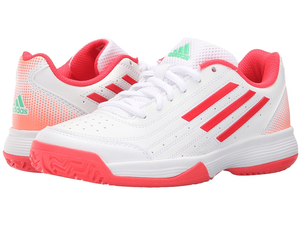 adidas Kids - Sonic Attack (Little Kid/Big Kid) (White/Pink/Sun Glow) Girls Shoes