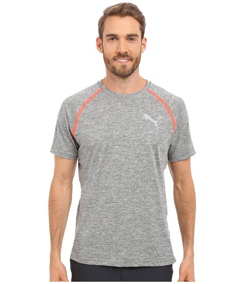 PUMA Bonded Tech Short Sleeve Tee (Medium Gray Heather) Men