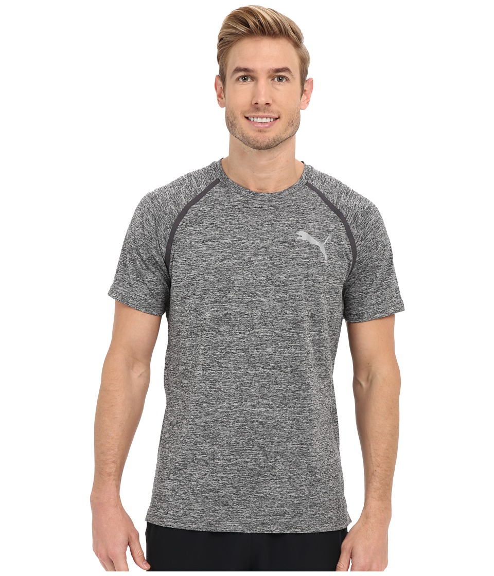 PUMA Bonded Tech Short Sleeve Tee (Black Heather) Men