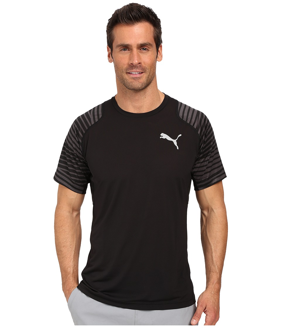 PUMA - Vent Graphic Tee (Black/Asphalt) Men's T Shirt