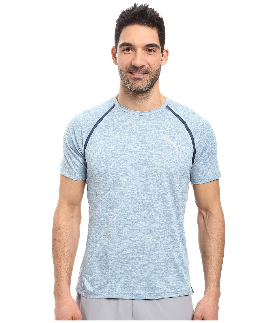 PUMA - Bonded Tech Short Sleeve Tee (Blue Heaven Heather/Heather) Men's T Shirt