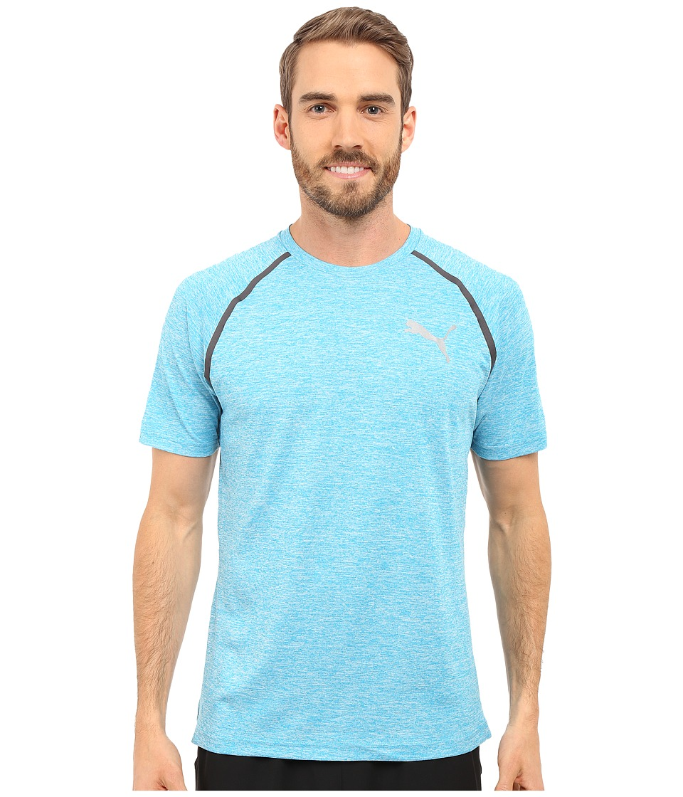 PUMA Bonded Tech Short Sleeve Tee (Atomic Blue Heather) Men