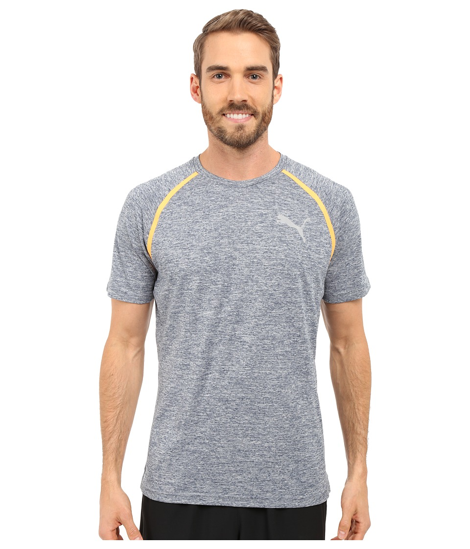 PUMA - Bonded Tech Short Sleeve Tee (Blue Wing Teal Heather) Men