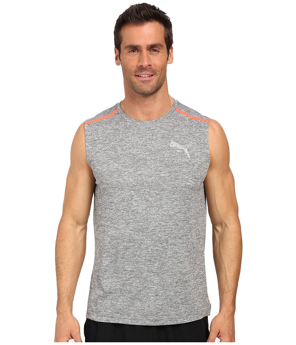 PUMA - Bonded Tech Sleeveless Tee (Medium Gray Heather) Men's Sleeveless