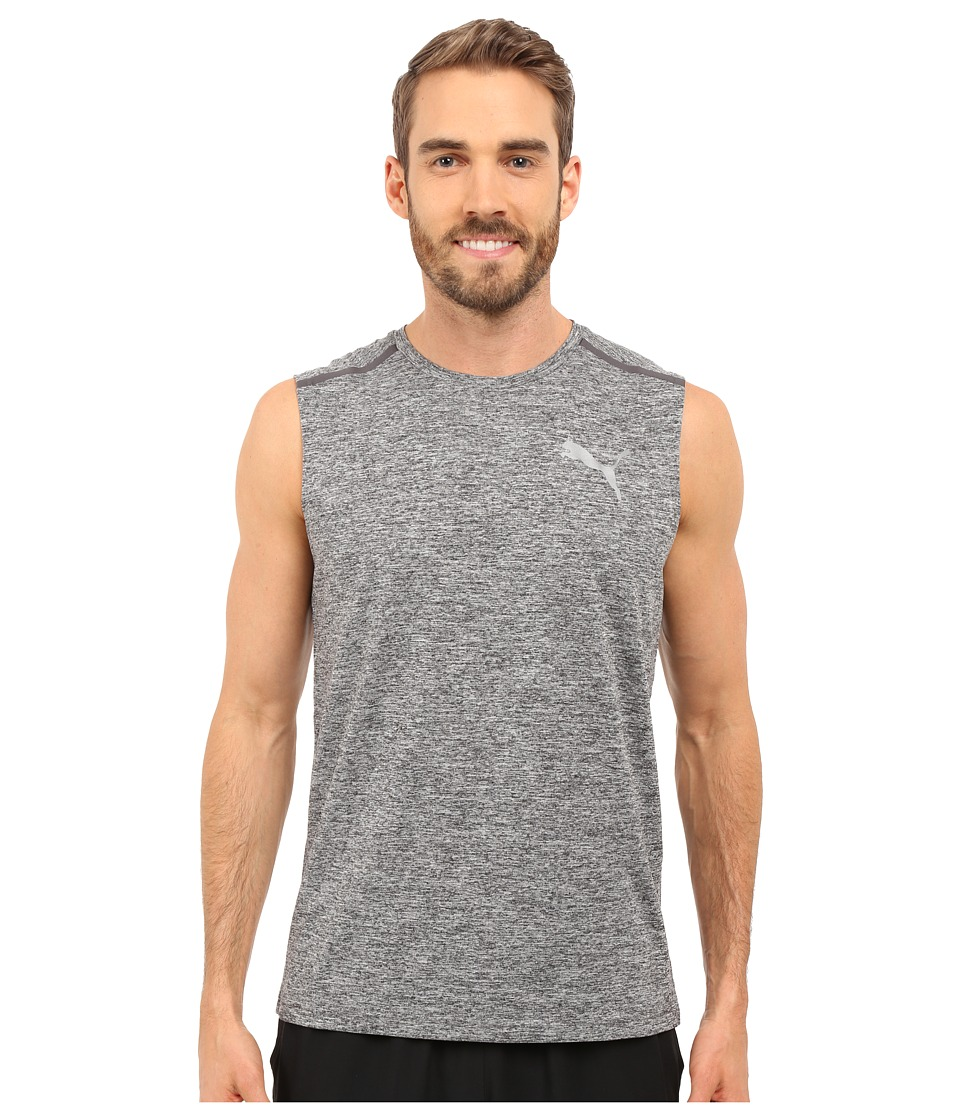 PUMA - Bonded Tech Sleeveless Tee (Black Heather) Men's Sleeveless