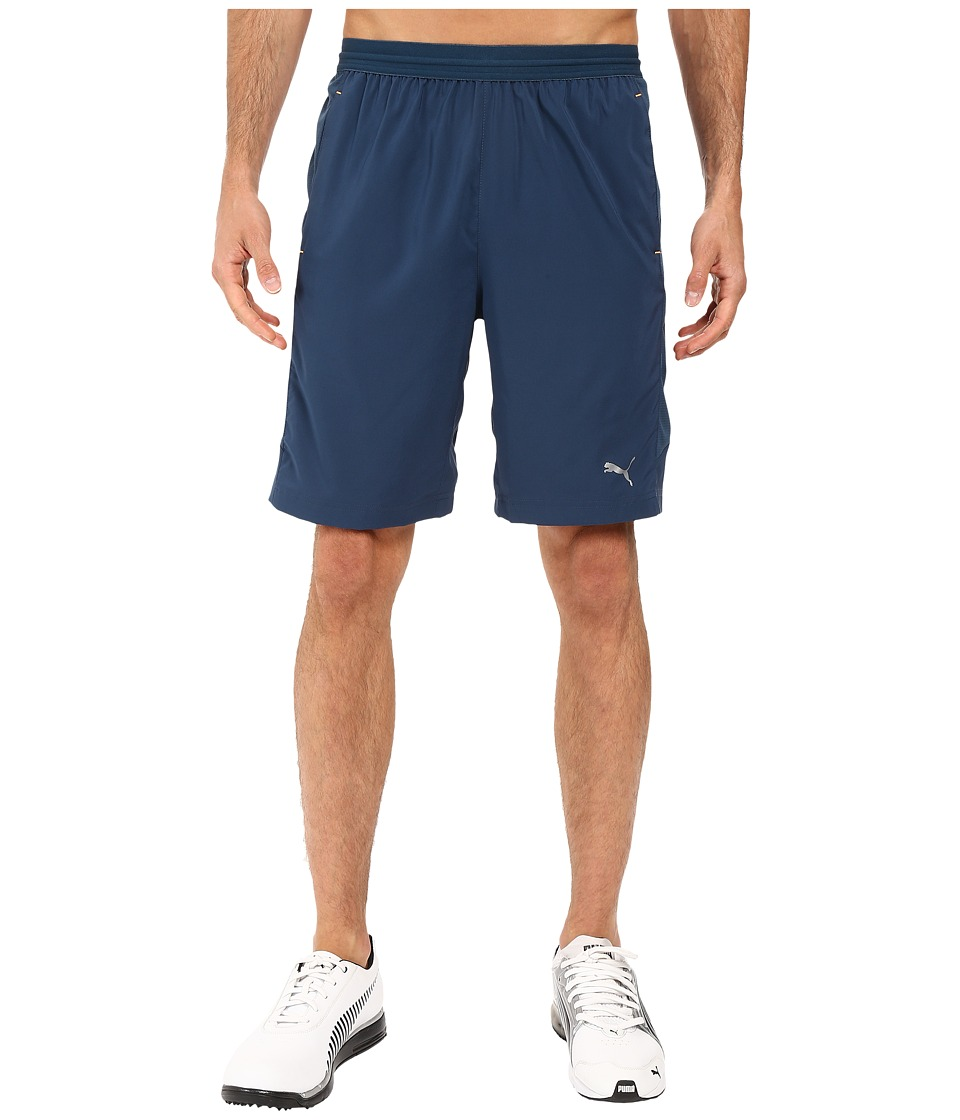 PUMA - Vent Stretch Woven Shorts (Blue Wing Teal/Orange Pop) Men's Shorts