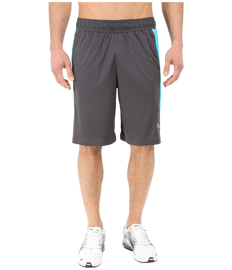 PUMA - Knit Colorblock Shorts (Asphalt/Atomic Blue) Men's Shorts