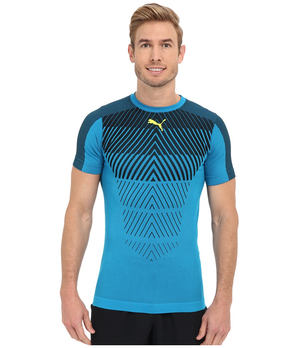 PUMA - IT evoTRG Thermo-R Tee (Atomic Blue/Black) Men's Workout