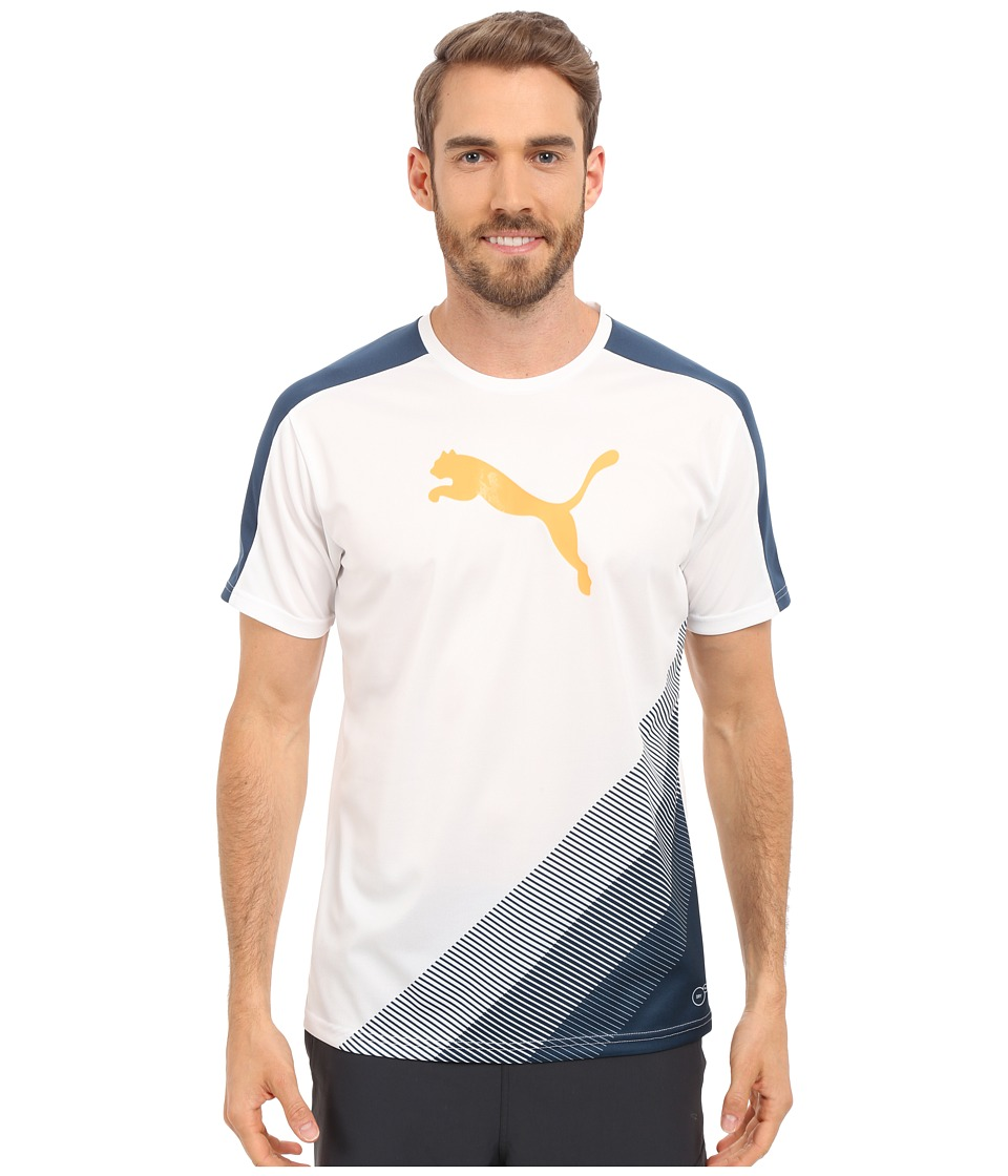 PUMA - IT evoTRG Cat Graphic Tee (Atomic Blue/Safety Yellow) Men's Short Sleeve Pullover