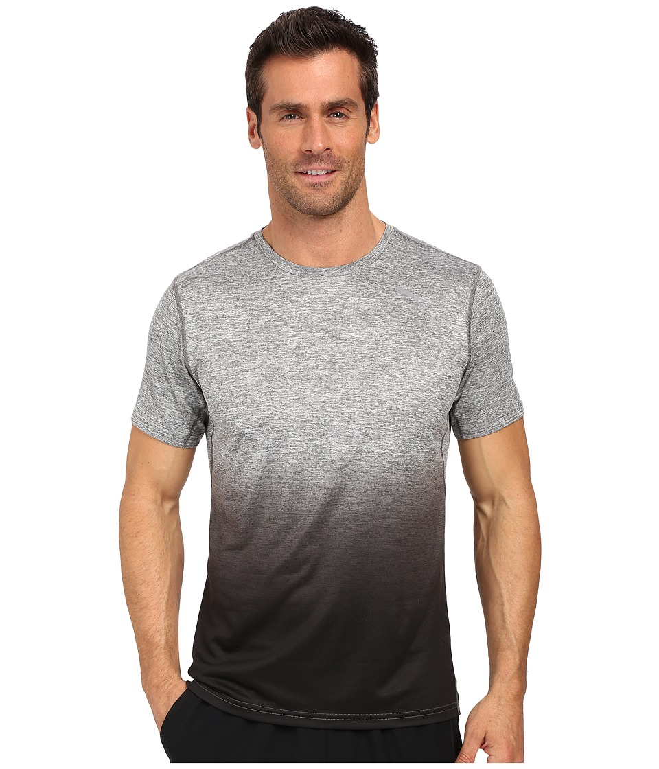 PUMA Rebel-Run Short Sleeve Tee (Medium Gray Heather) Men