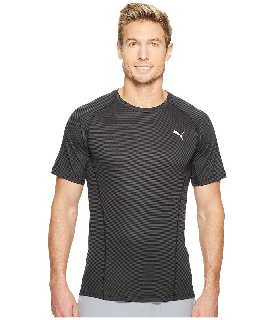 PUMA - Faster Than You Short Sleeve Tee (Black) Men's T Shirt