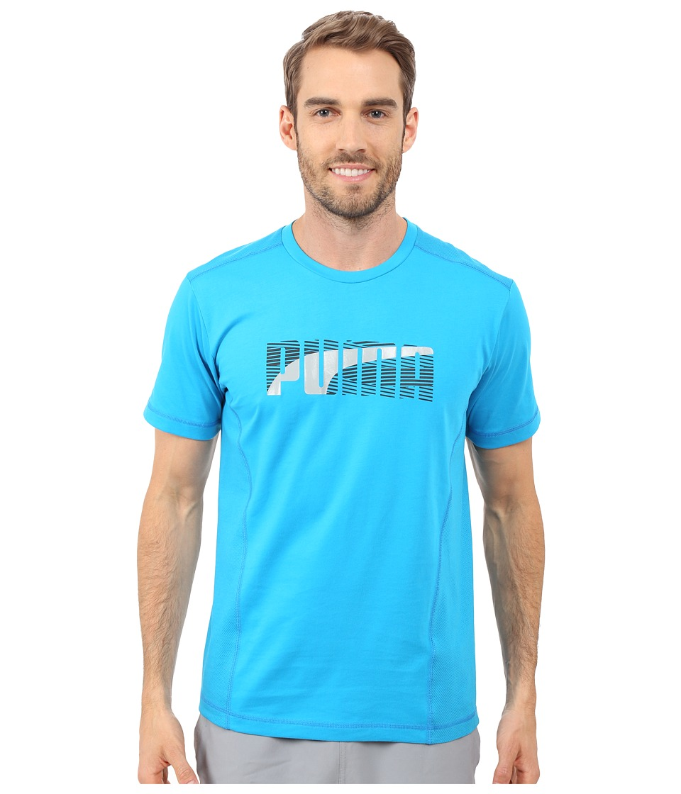 PUMA - Active Dry Formstripe Tee (Atomic Blue) Men