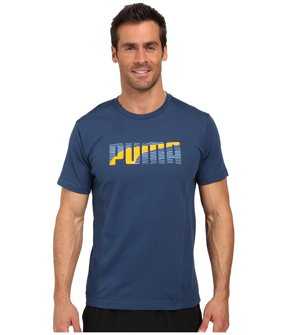 PUMA - Active Dry Formstripe Tee (Blue Wing Teal) Men's T Shirt