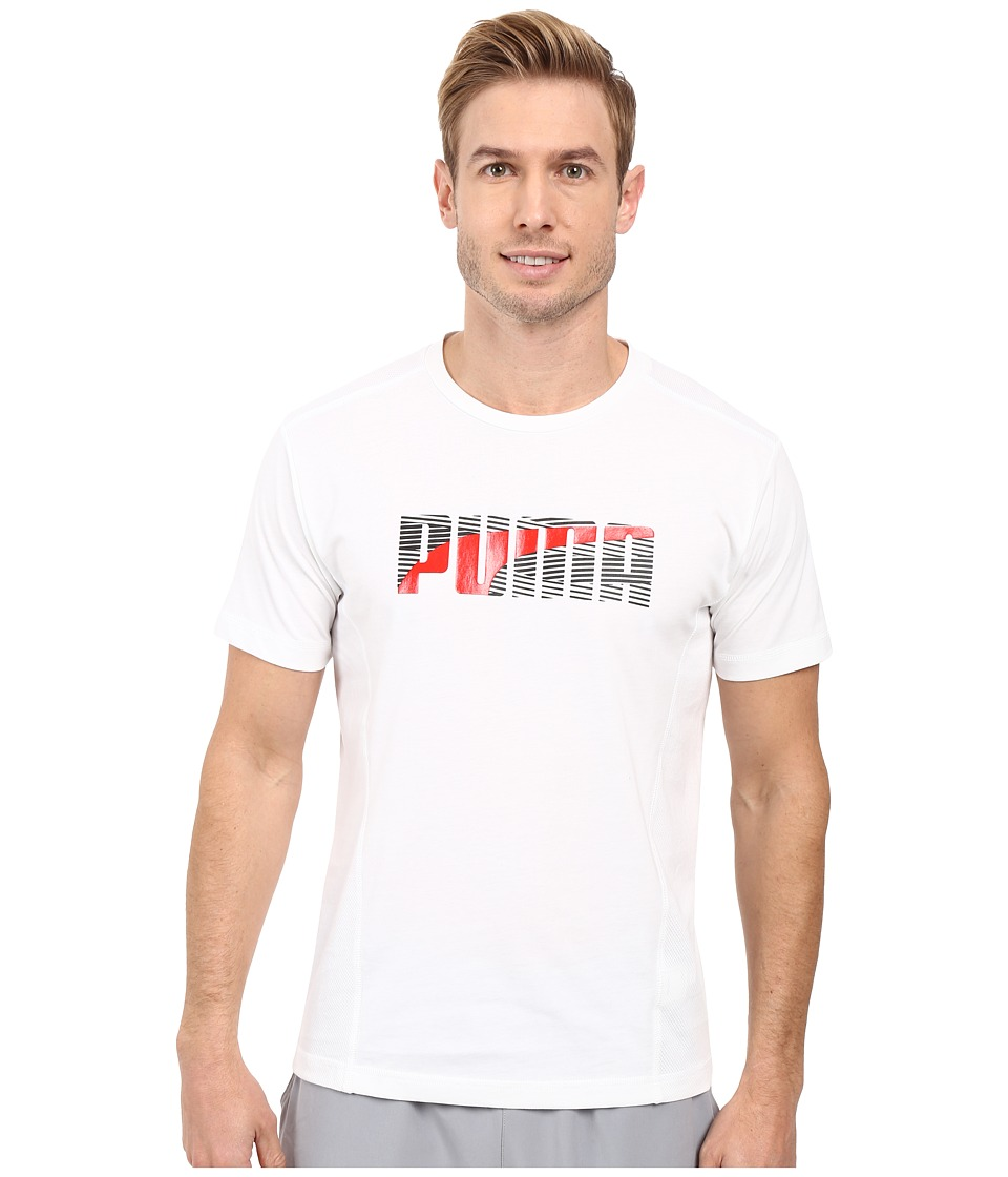 PUMA - Active Dry Formstripe Tee (White) Men's T Shirt