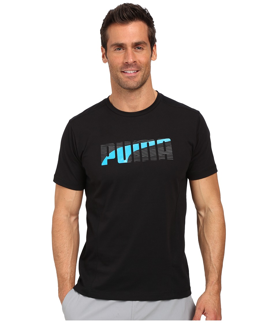 PUMA - Active Dry Formstripe Tee (Black) Men's T Shirt