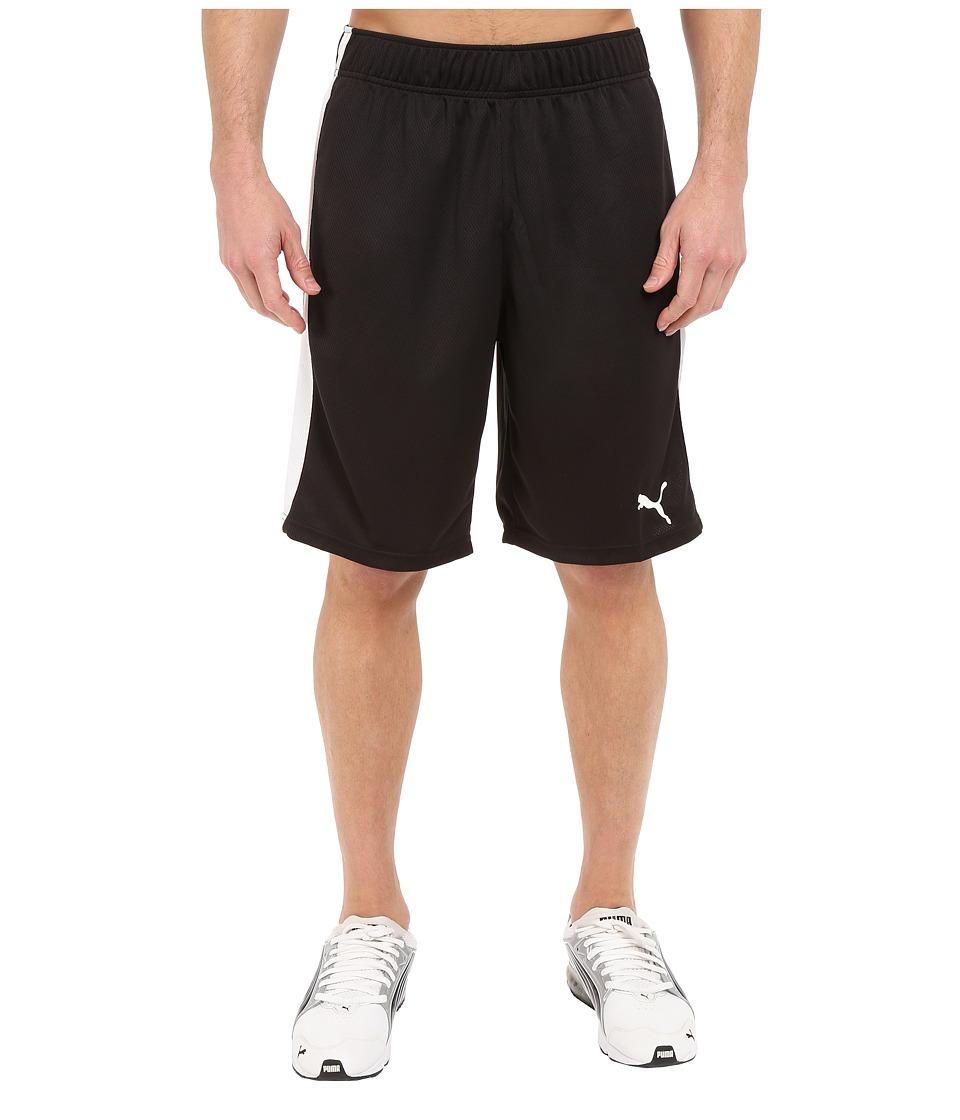 PUMA Formstripe Mesh Shorts (Black/White) Men