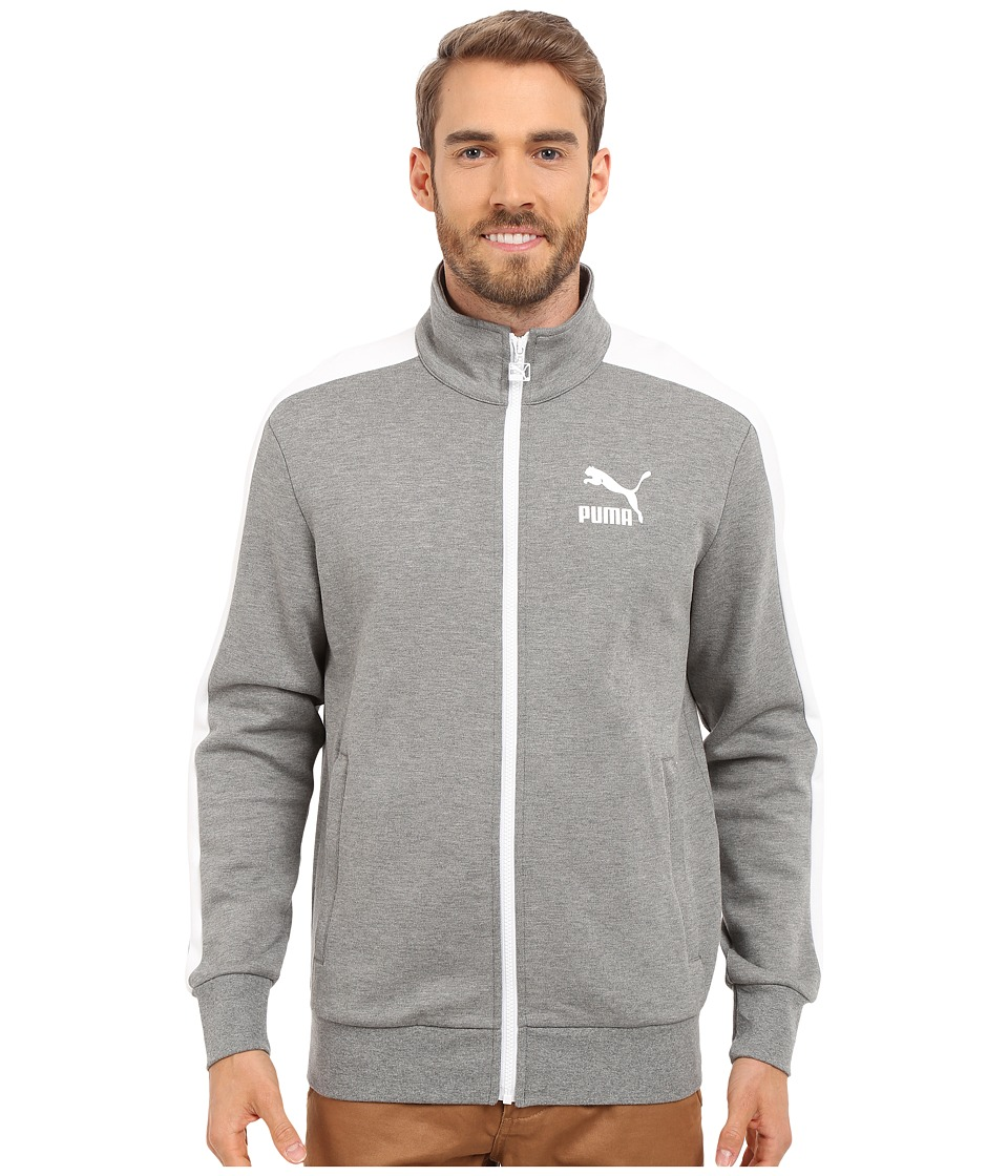 PUMA - Archive T7 Track Jacket (Medium Gray Heather) Men's Coat