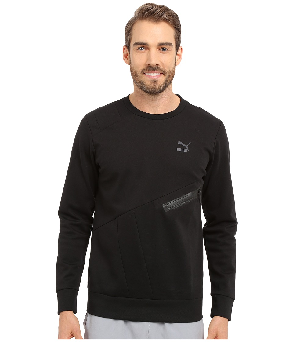 PUMA - Evo Zip Crew (Black) Men's Long Sleeve Pullover