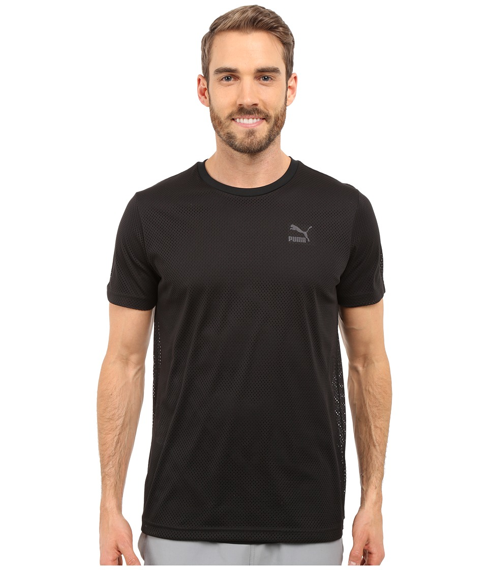 PUMA Evo Mesh Layer Tee (Black) Men