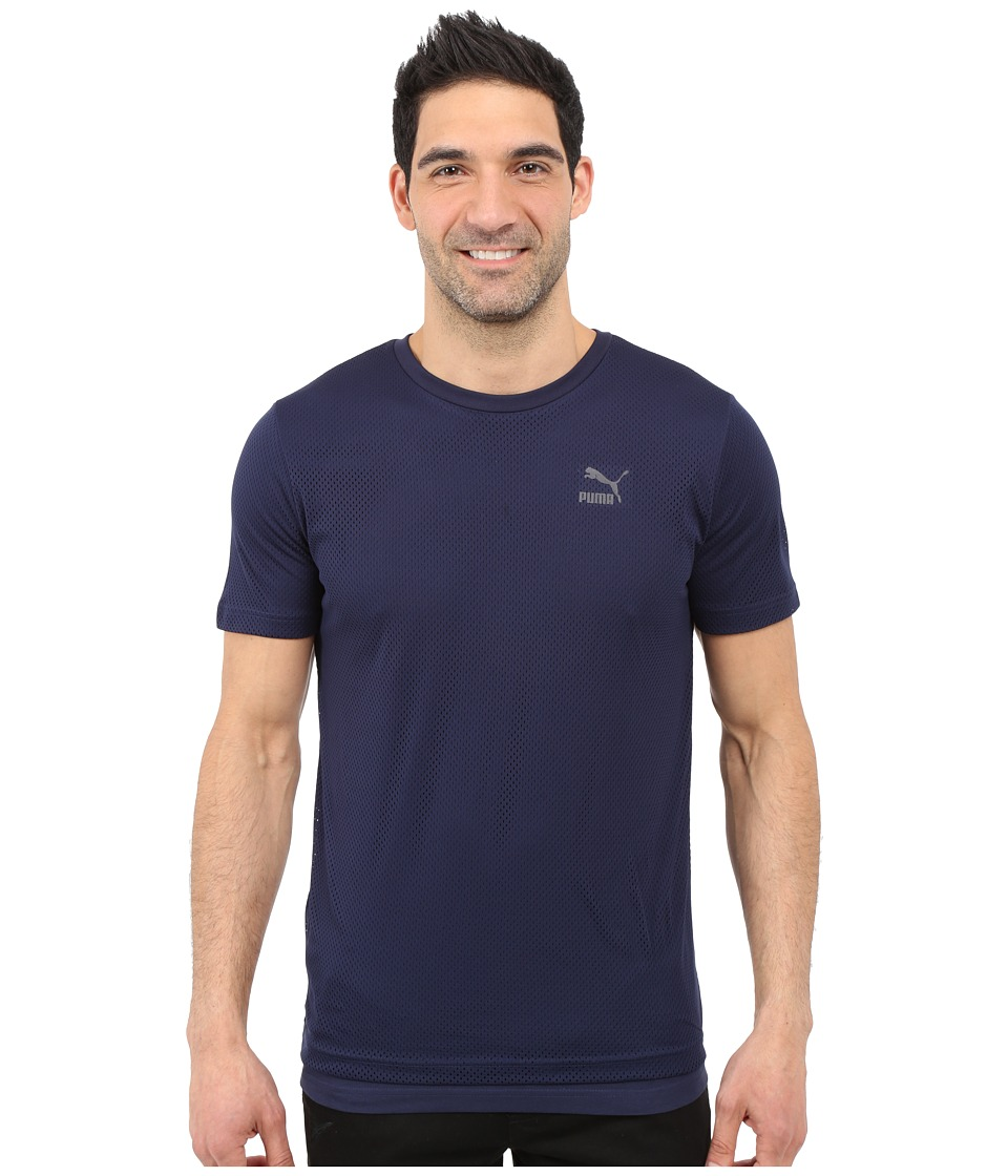 PUMA Evo Mesh Layer Tee (Peacoat) Men