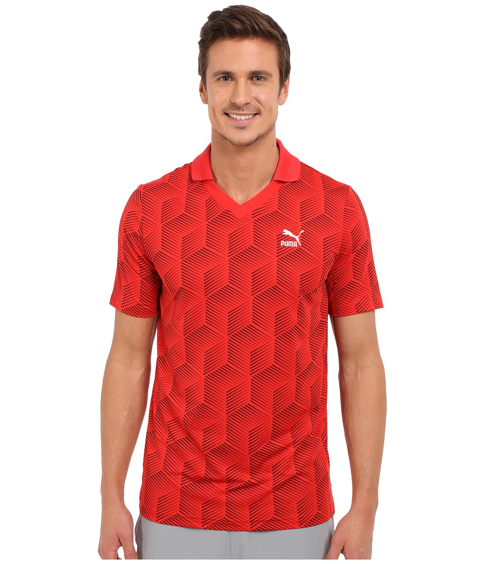 PUMA - Football Jersey Tee (High Risk Red) Men's T Shirt