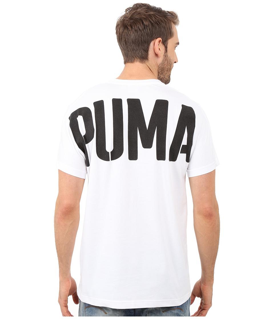 PUMA - Evo Bold Logo Tee (White) Men's T Shirt