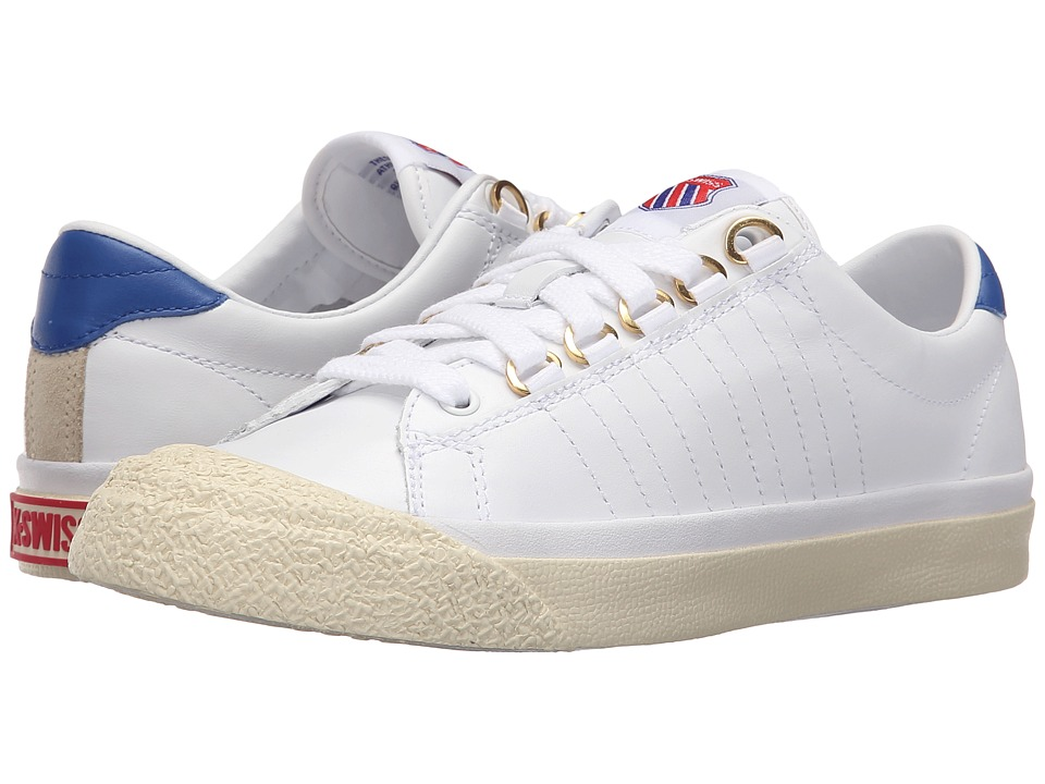 K-Swiss - Irvine OG 50th (50th/White/Classic Blue/Ribbon Red Leather) Women's Shoes
