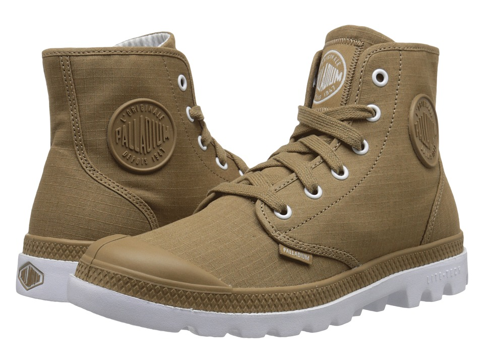 Palladium - Pampa Hi Lite (Dark Khaki/White) Men's Lace-up Boots