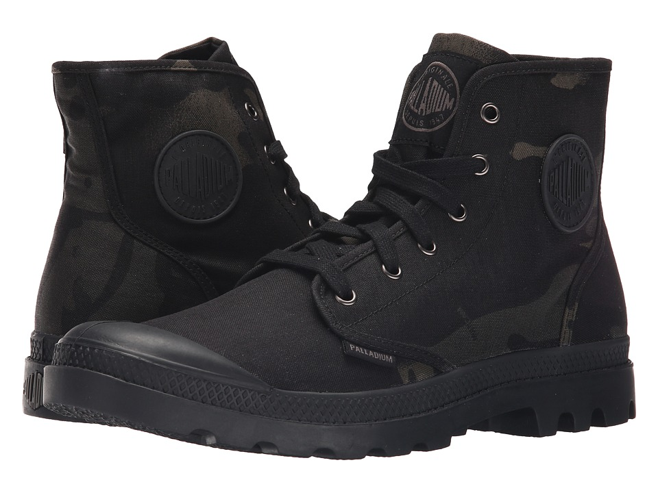 Palladium - Pampa Hi Multicam (Black Camo) Men's Lace-up Boots