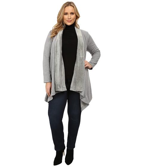 DKNY Jeans - Plus Size Bonded Fleece Cozy (Smoke Grey Heather) Women
