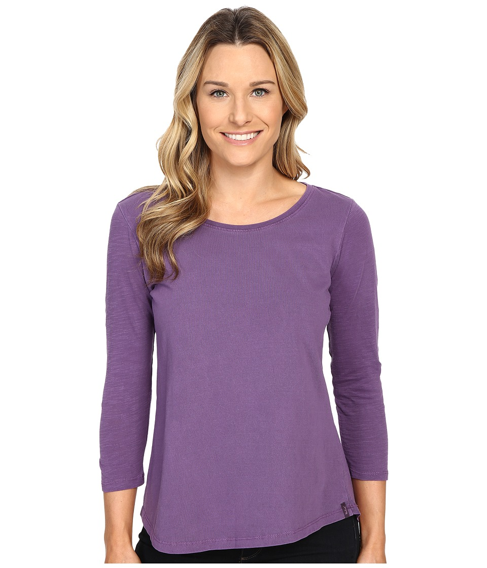 Woolrich - First Forks 3/4 Sleeve Shirt (Grape) Women's Long Sleeve Pullover