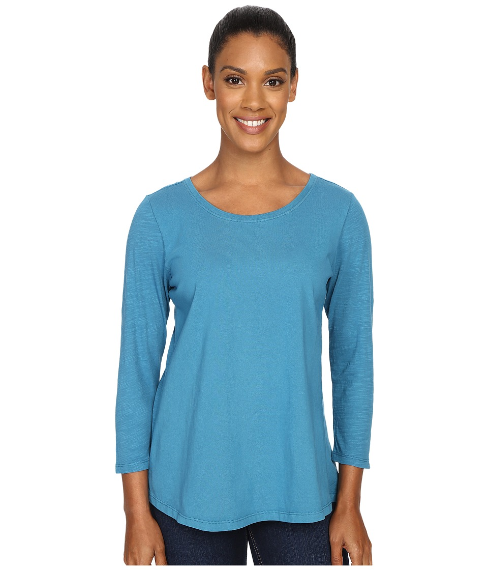 Woolrich - First Forks 3/4 Sleeve Shirt (Seaport) Women's Long Sleeve Pullover