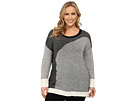 DKNY Jeans Plus Size Shadow Stripe Boyfriend Pullover