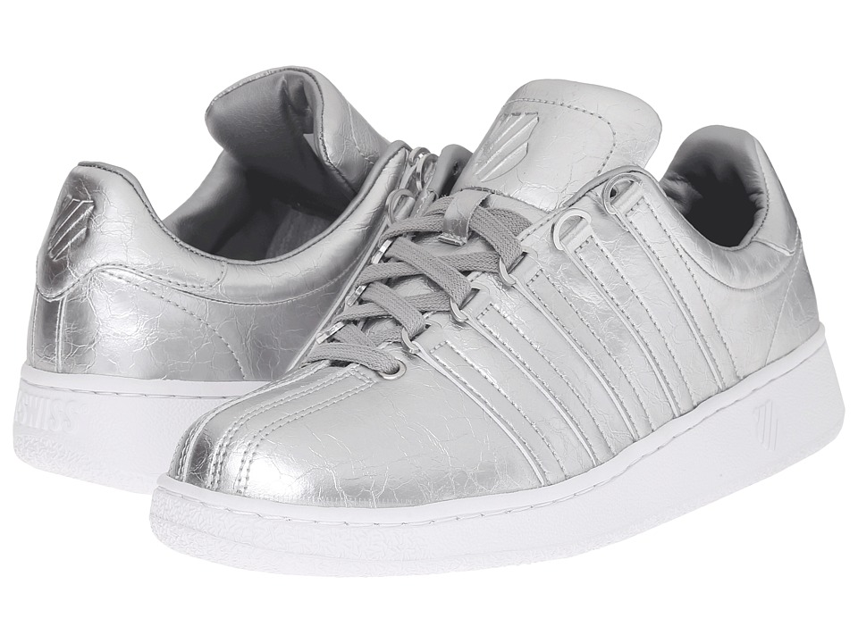 K-Swiss - Classic VN Aged Foil (Silver/White Leather) Men's Shoes