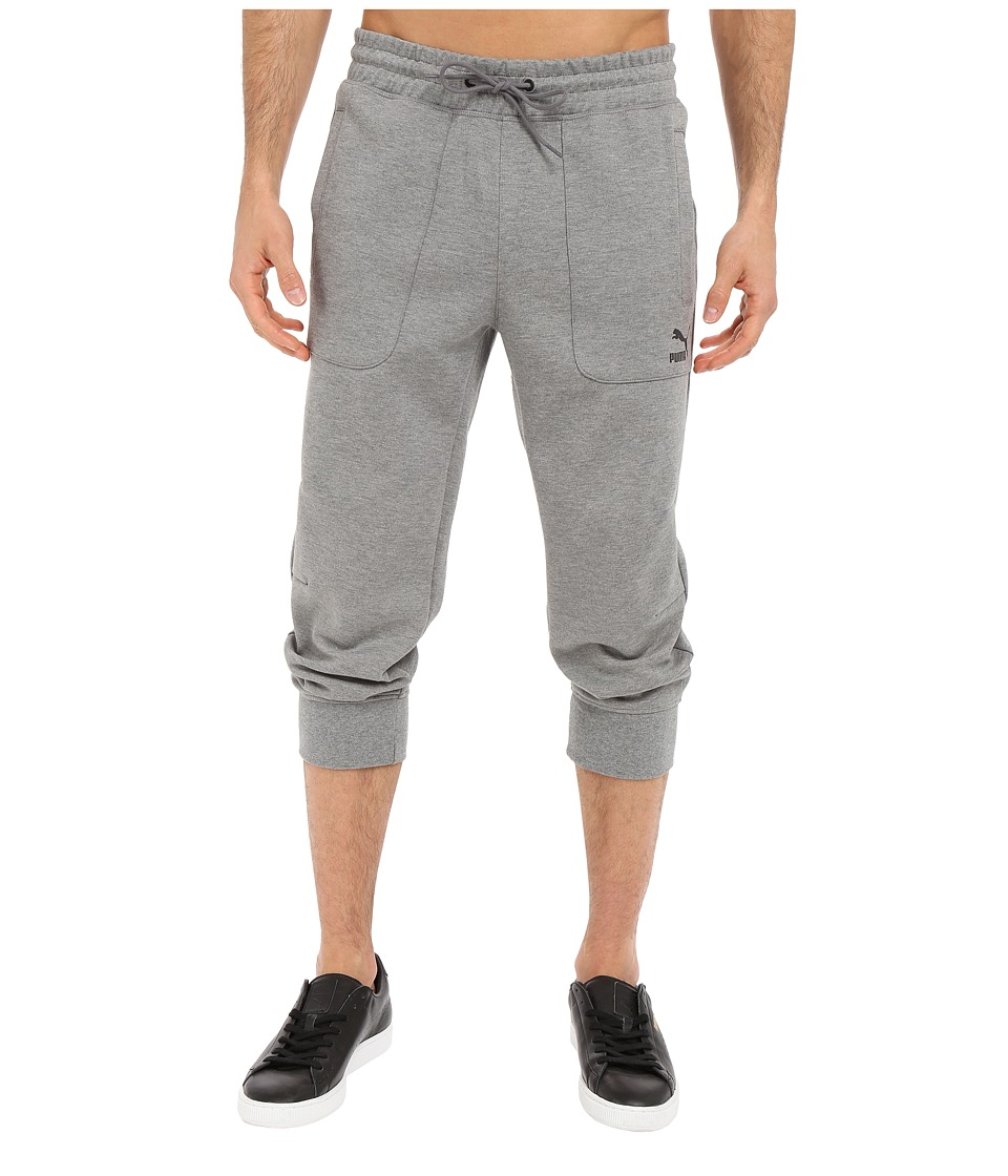 PUMA - Evo Sweat 3/4 Pants (Medium Gray Heather) Men's Workout