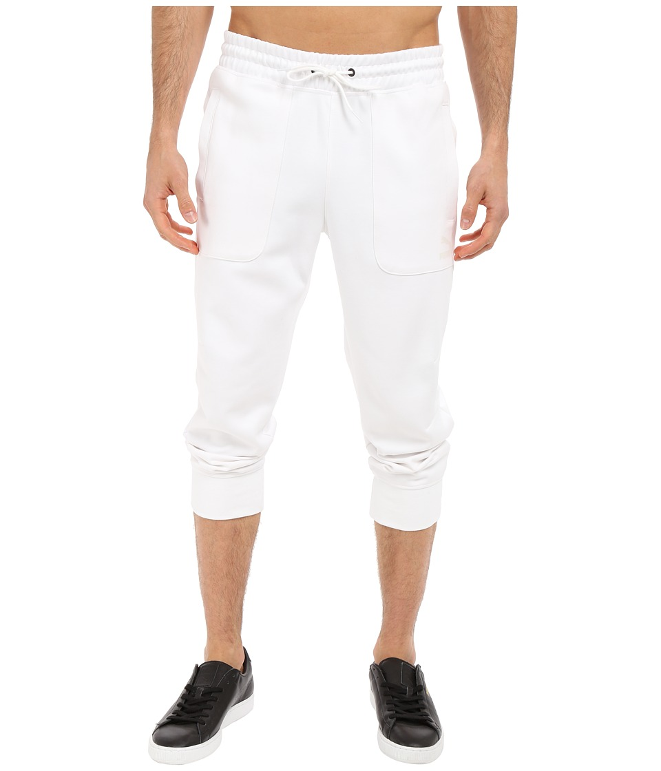 PUMA - Evo Sweat 3/4 Pants (White) Men's Workout