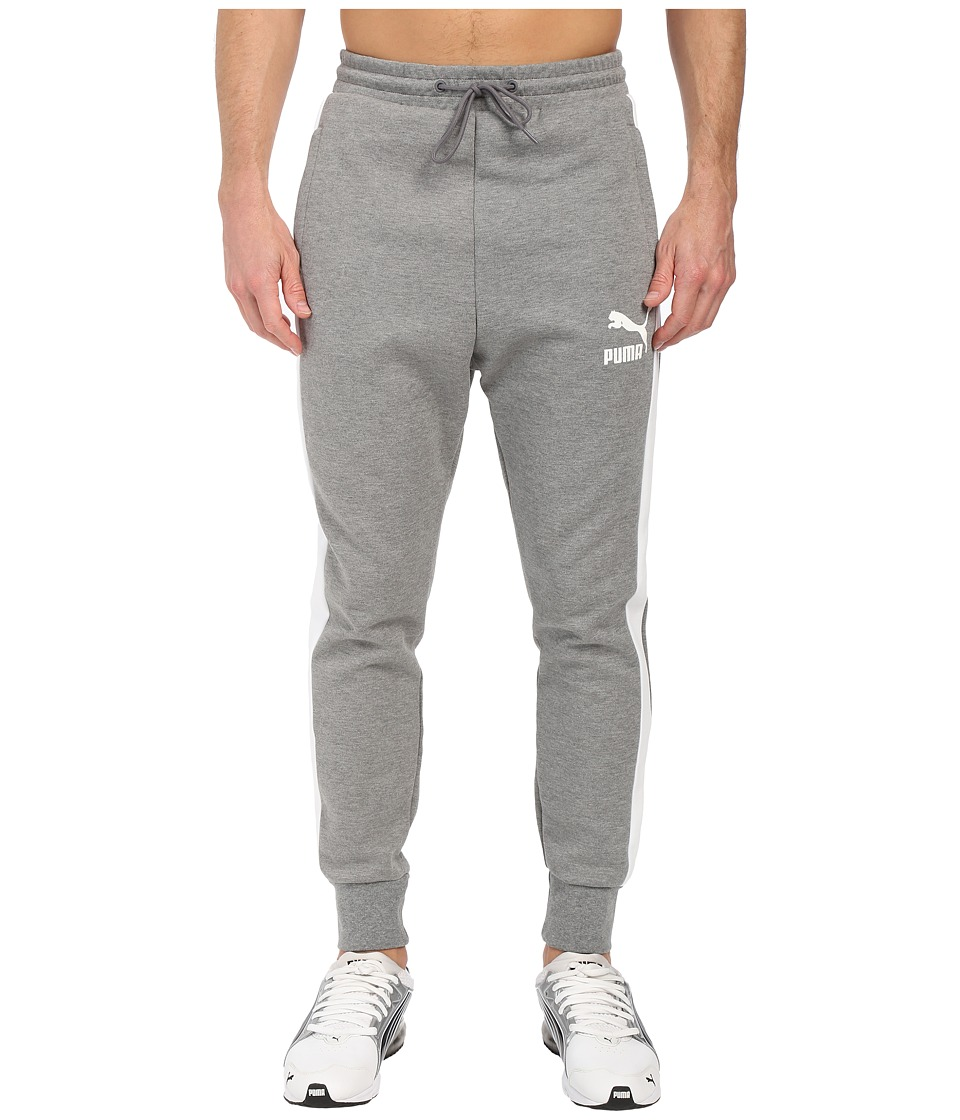 PUMA - Archive T7 Track Pants (Medium Gray Heather) Men's Workout