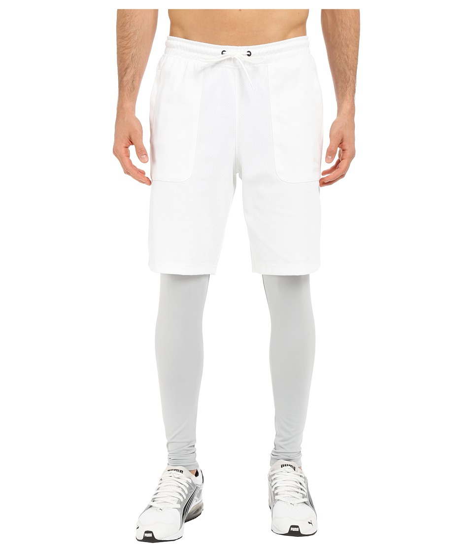 PUMA - Evo Layered Tights (White) Men's Casual Pants