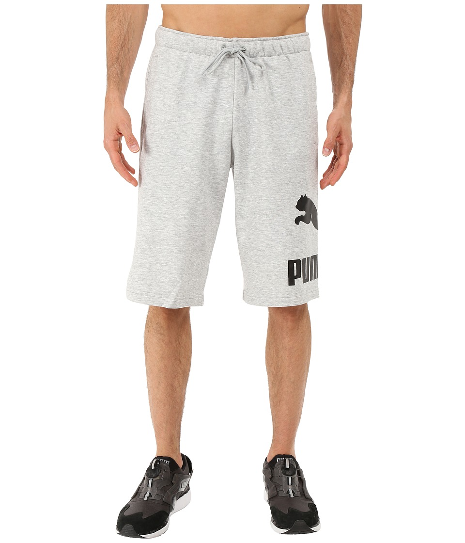 PUMA - Archive Logo Sweat Bermudas (Light Gray Heather) Men's Shorts