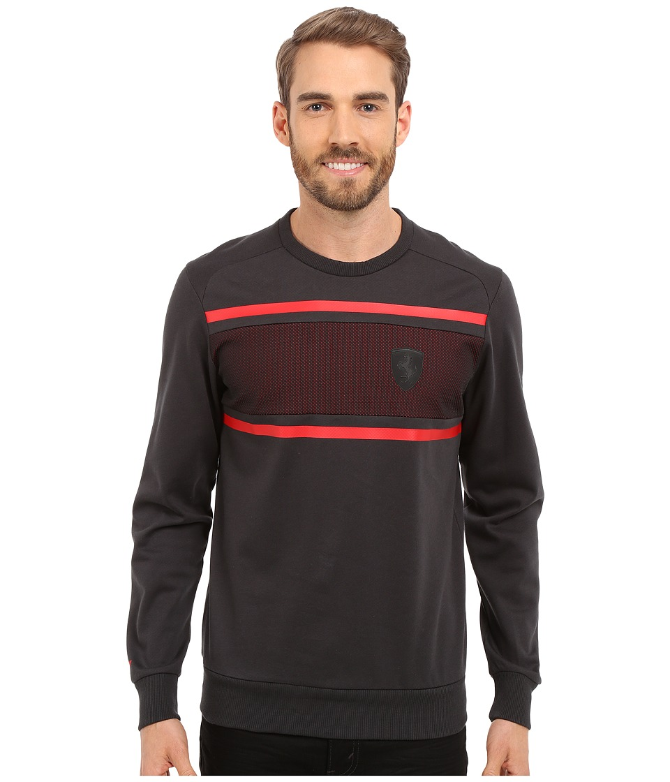 PUMA - Ferrari Crew Neck Sweater (Moonless Night) Men's Long Sleeve Pullover