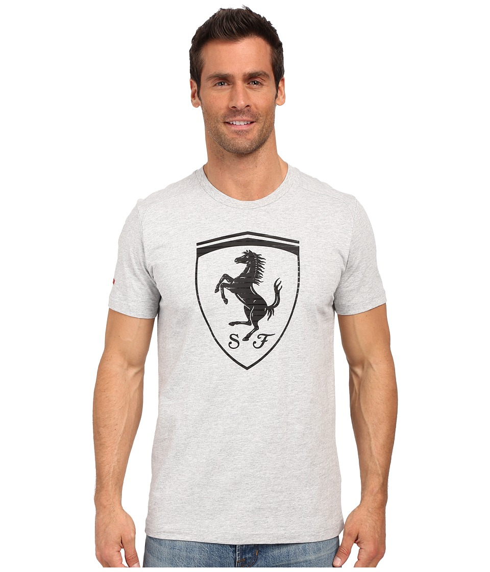 PUMA - Ferrari Big Shield Tee (Light Gray Heather) Men's T Shirt
